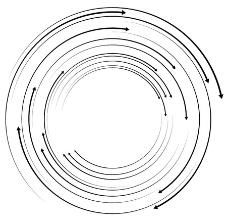 circular arrows: Concentric, circular arrows. Random dynamic circle arrows.
