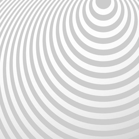 Radiating circles pattern. Creative monochrome background in square format. Ovals, ellipses in radial fashion. Radiation background.