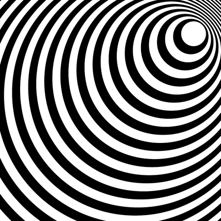 converging: Converging, radiating lines abstract monochrome pattern in square format