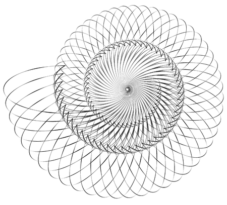Geometric spiral. Volute, helix elements. Abstract geometric illustration.