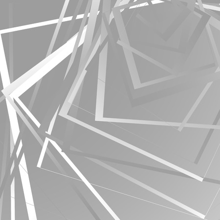 tweak: Geometric background w random squares. Edgy monochrome pattern with intersecting straight lines. Irregular, asymmetric pattern.