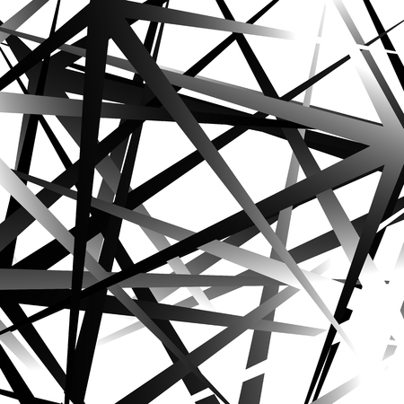 overlapping: Edgy, pointed random overlapping shapes. Abstract art. Illustration