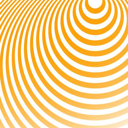 Rayonnant cercles motif. Creative fond monochrome au format carré. Ovales, ellipses en mode radial. Radiation de fond.
