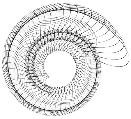 volute: Geometric spiral. Volute, helix elements. Abstract geometric illustration.