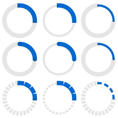 users video: Transparent progress indicators. Preloaders, phase, step indicators, meters.