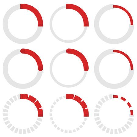 metre: Transparent progress indicators. Preloaders, phase, step indicators, meters.