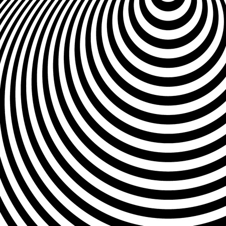 ripple effect: Concentric circles, ovals. Radial, radiating circles pattern. Ripple, radiation effect. Monochrome geometric pattern.