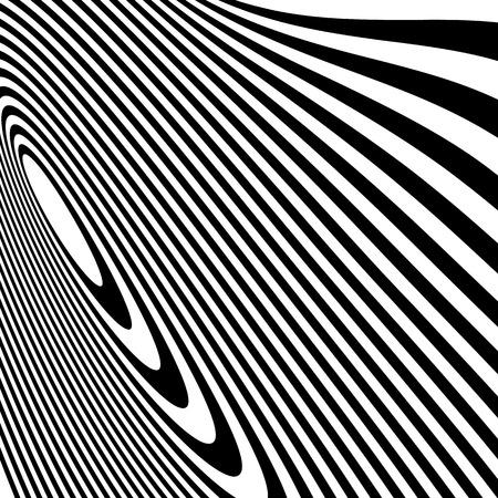 irregular: Curvy irregular dynamic lines. Abstract geometric pattern.