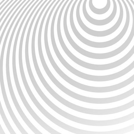 Rayonnant cercles motif. Creative fond monochrome au format carré. Ovales, ellipses en mode radial. Radiation de fond. Vecteurs