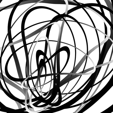 wriggle: Abstract squiggle, squiggly, curvy lines. Monochrome geometric pattern.