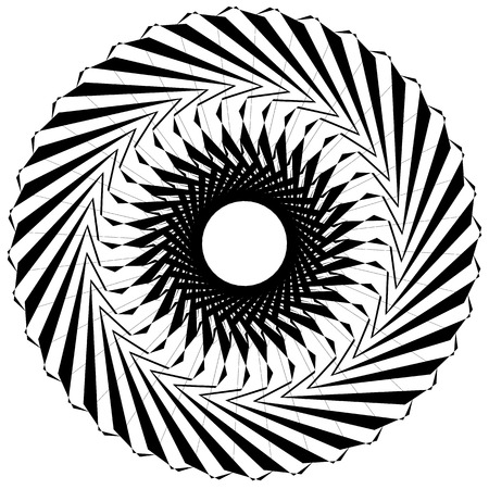 curl whirlpool: Circular geometric element. Rotating shapes, forms abstract illustration.