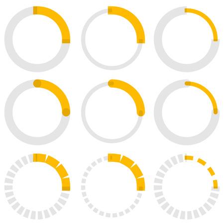 graphical user interface: Transparent progress indicators. Preloaders, phase, step indicators, meters.