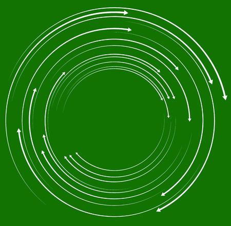 Concéntricos, flechas circulares. Aleatorios flechas círculo dinámicas.