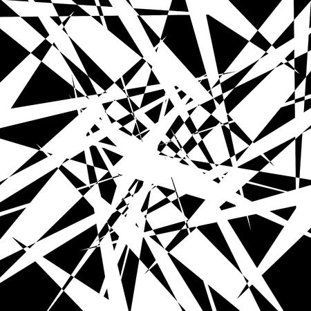 amorphous: Edgy geometric element, random shape. Abstract monochrome illustration.