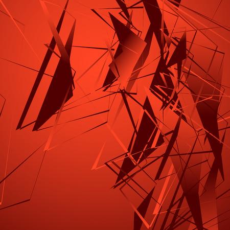 splinter: Edgy monochrome illustration with geometric shapes. Abstract geometric art. Illustration