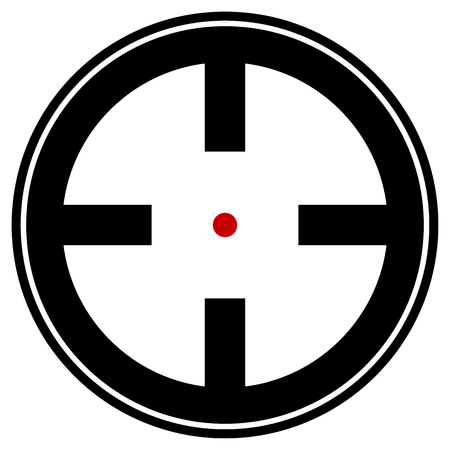 detection: Target mark, reticle, crosshair icon for focus, accuracy, targeting concepts. Illustration
