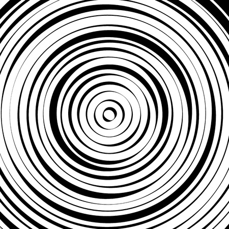 cíclico: círculos concéntricos radiales con líneas irregulares y dinámicas. Modelo abstracto con efecto de rotación, espiral.