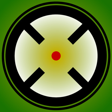 Target mark, reticle, crosshair icon for focus, accuracy, targeting concepts. Illustration