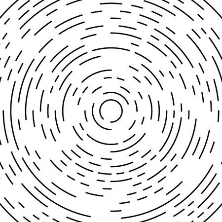 circling: Circular, circling, spiral lines. Irregular asymmetric monochrome pattern, element
