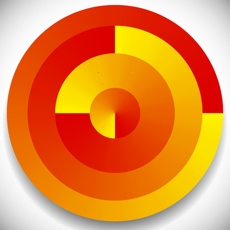 Concentric, radial circles generic icon, design element
