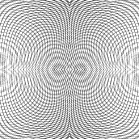 Grid of dynamic lines. Seamlessly repeatable mesh pattern. Distorted, warped cellular, reticulated background. 向量圖像