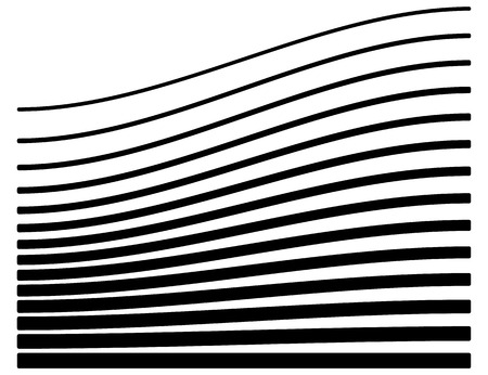 tweak: Set of lines with different level of deformation. Abstract geometric illustration.