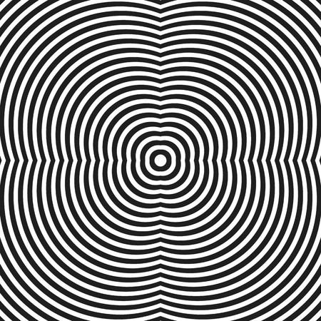 radiating: Circular, radiating lines, concentric circles geometric pattern. Seamlessly repeatable.