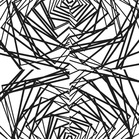 crossing tangle: Geometric illustration(s) with random, edgy, irregular lines. Dynamic intersecting lines.