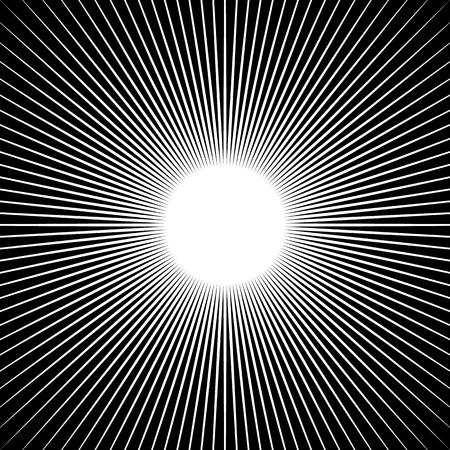 radiating: Radiating lines starburst pattern. Radial rays, beams.