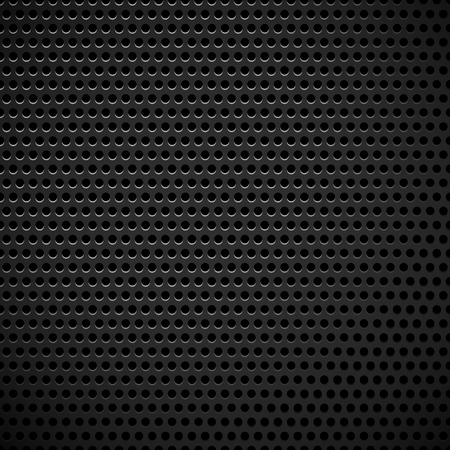 durability: Carbon fiber industrial background with repeatable geometry. Dark, black dotted pattern. Punched, perforated surface. Abstract texture.