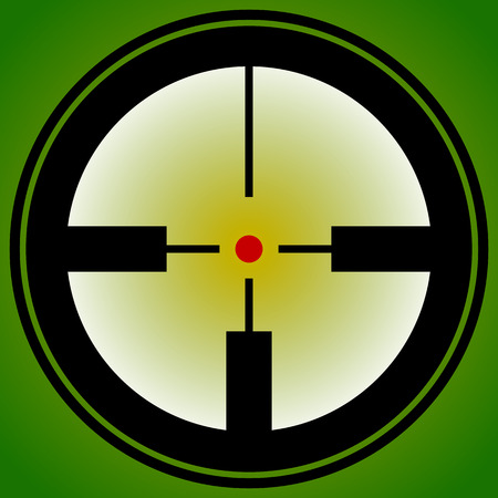 pinpoint: Target mark, reticle, crosshair icon for focus, accuracy, targeting concepts. Illustration
