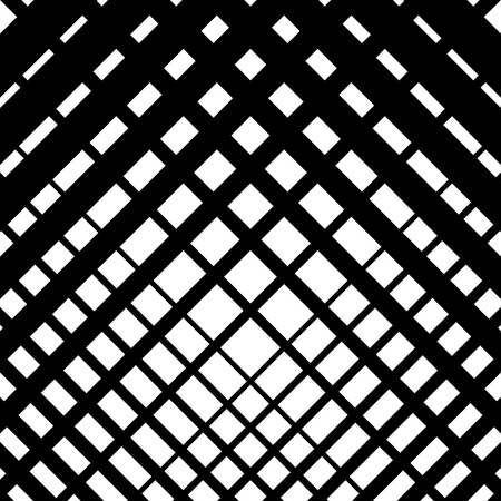 grating: Random grid, mesh pattern with irregular, diagonal lines. Cellular grating, grill background. Illustration of an abstract black and white texture.