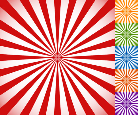 intersecting: Starburst, sunburst background. Circular monochrome pattern with radial lines.