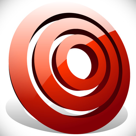 circulos concentricos: Concéntricos, círculos radiales icono genérico, elemento de diseño Vectores