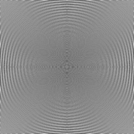 Grid of dynamic lines. Seamlessly repeatable mesh pattern. Distorted, warped cellular, reticulated background. Illustration