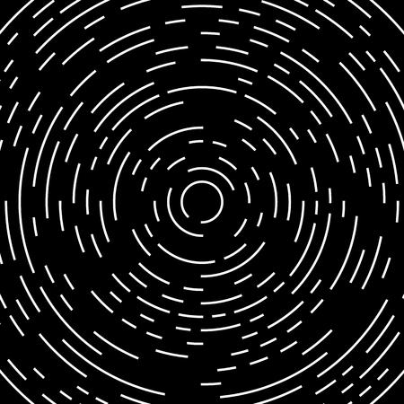 Circular, circling, spiral lines. Irregular asymmetric monochrome pattern, element Vector Illustration