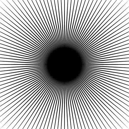lignes rayonnantes Starburst motif. rayons radiaux, poutres.