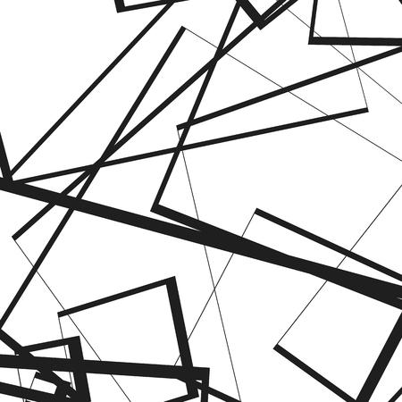 Geometric illustration(s) with random, edgy, irregular lines. Dynamic intersecting lines.