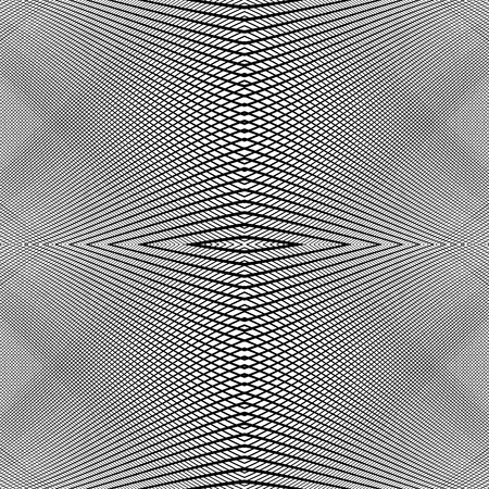 glitch: Grid of dynamic lines. Seamlessly repeatable mesh pattern. Distorted, warped cellular, reticulated background. Illustration