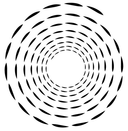 volute: Spiral element. Concentric swirling shape with lines rotating inwards. Helix, volute illustration.