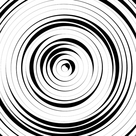 dizziness: Radial concentric circles with irregular, dynamic lines. Abstract pattern with rotating, spiral effect.