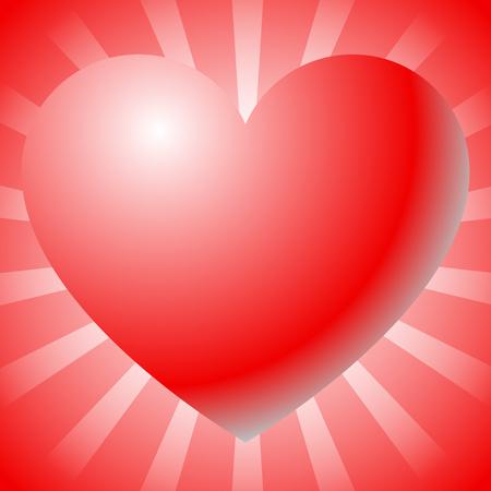afecto: Ilustraci�n con forma de coraz�n. Amor, afecto, conceptos de San Valent�n. Vectores