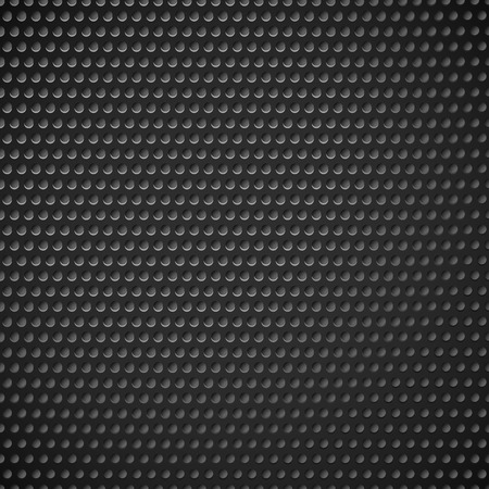 dark fiber: Carbon fiber industrial background with repeatable geometry. Dark, black dotted pattern. Punched, perforated surface. Abstract texture.
