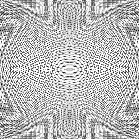 distorted: Grid of dynamic lines. Seamlessly repeatable mesh pattern. Distorted, warped cellular, reticulated background. Illustration