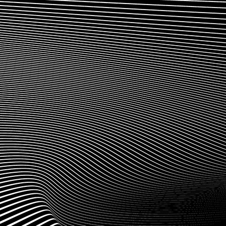 camber: Simple dynamic lines pattern. Geometric pattern. Monochrome abstract background. Illustration