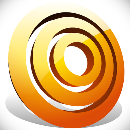 Concentric, radial circles generic icon, design element