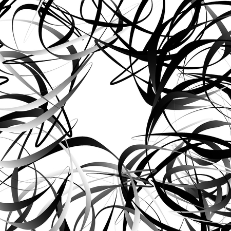 squiggly: Intersecting random squiggly, curvy lines. Abstract geometric illustration. Illustration