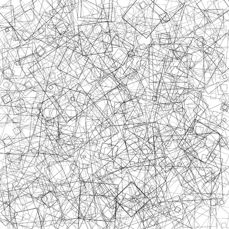 intersecting: Pattern with random intersecting squares. Abstract geometric texture.