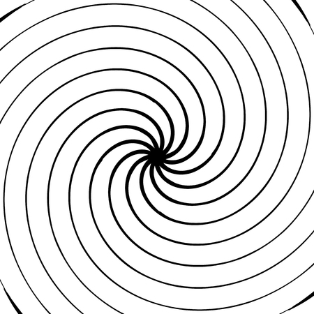 vertigo: Abstract spiral element. Concentric, radial, radiating lines. Abstract rotating geometric element.