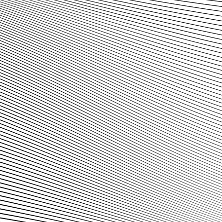 curvature: Simple dynamic lines pattern. Geometric pattern. Monochrome abstract background. Illustration